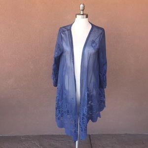Alya cardigan/shawl /throw lace like